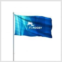 Reklamflaggor liggande